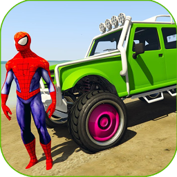 Superheroes Buggy Car Stunts 3d