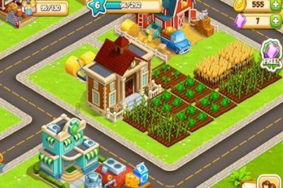 Cartoon Town: City Farm Building